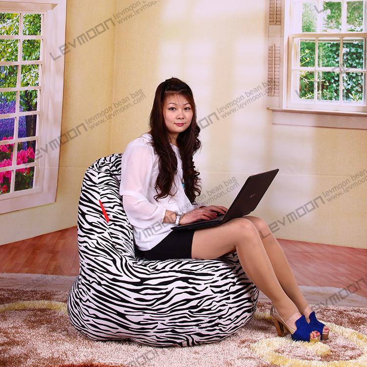 FREE SHIPPING zebra toddler bean bag chair 100CM diameter zebra bean bags cover 100% cotton canvas zebra leather bean bag chair(China (Mainland))