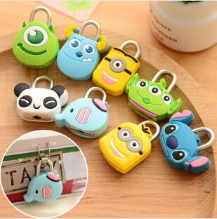 Kawaii Cartoon Animal Mini Padlock Travel Luggage Bag Lock,Cartoon Lock,Suitcase Padlock KCS(China (Mainland))