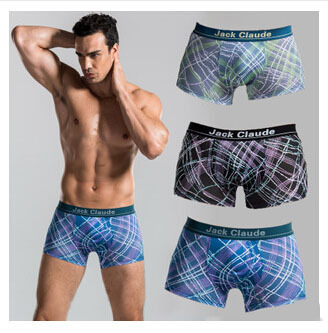 3 pcs/lot M-XXL New Classic Modal Striped Boxer Shorts Underpants High Quality Breathable Mens Cuecas Boxer Shorts Underwear(China (Mainland))