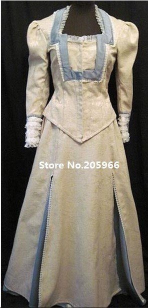 Free Shipping Scarlet Romance Novel Cover 1870s Victorian Bustle Gown Costume/Function Dress/Event Dress(China (Mainland))