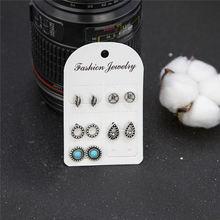 earrings New fashion women's jewelry wholesale girls birthday party pearl earrings set mashup(China)