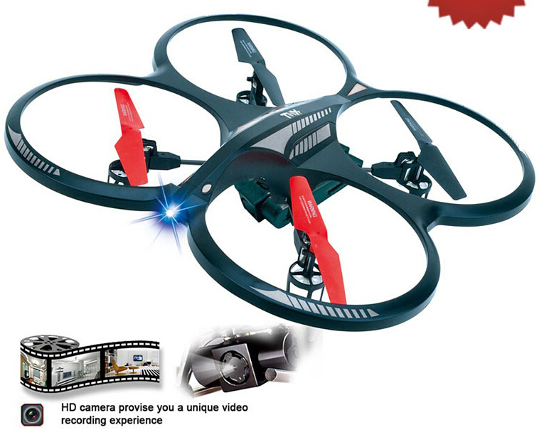 RC Helicopter H07NC 2.4G 4CH 6-Axis Gyro Flying Saucer Quadcopter Big Parrot AR.Drone whith HD Camera Flashing Toys Glider/Heli(China (Mainland))