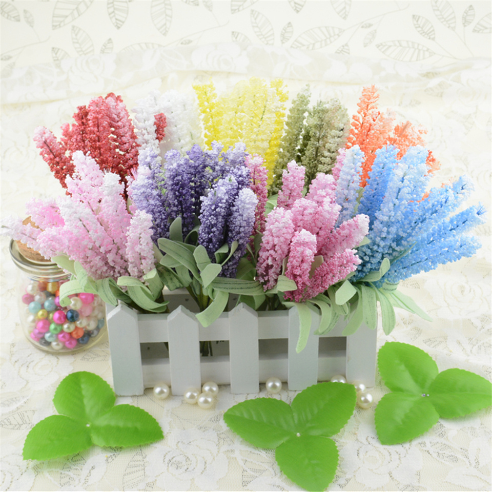 10pcs foam lavender artificial flower bouquet for wedding Artificial flower decoration for home