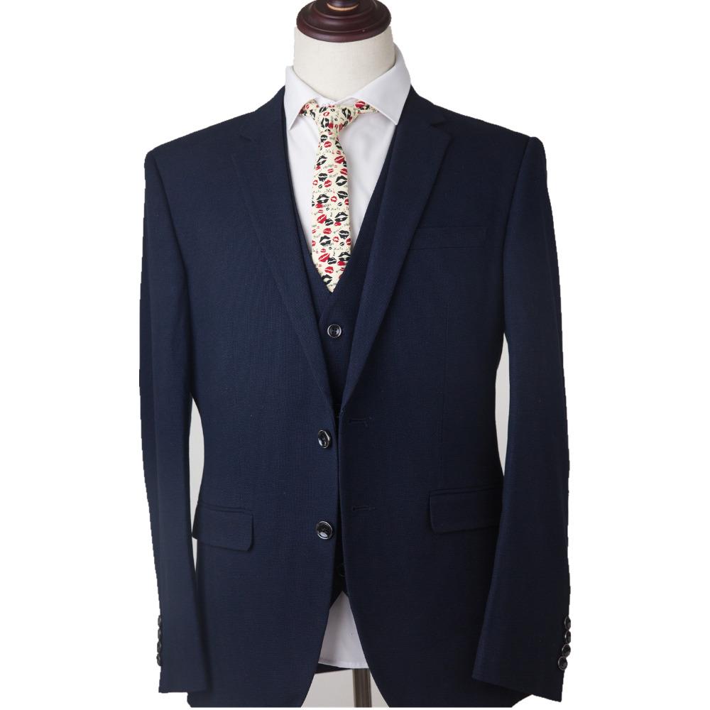 Worsted Wool 5 Color Tweed Tailor Made Slim Fit Wedding