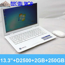 "13""  laptop computer  D2500 dual core 1.86GHZ LED 2GB 250GB Notebook PC"