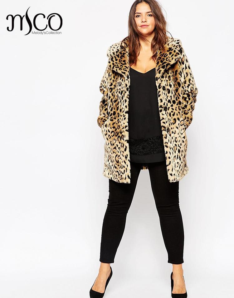 High Quality Thick Leopard Faux Fur Coat Winter Long Fur Jacket Oversize Warm Women Trench Coat Plus Size Casaco De Pele 7XL 8XL(China (Mainland))