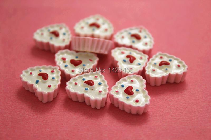25pc 20mm pink Sweet Hearts Tart Cabochon Cake Kawaii Resin Flatback DIY home decorations christmas Jewelry Mobile phone DIY(China (Mainland))