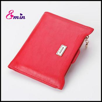 2016 New Brand Fashion Zipper PU Leather Coin Card Holder Photo Holders Women Purse Wallet Female Purse Wallets For Women DB5700