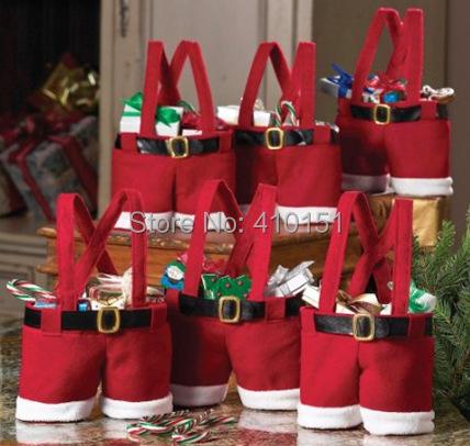 2014 Hot!!! OEM Christmas articles 200pcs shorts 20cm Christmas gift bag, candy bag for Christmas(China (Mainland))