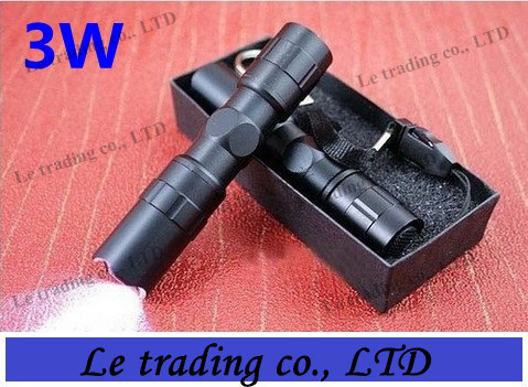 Mini 3W 1AA Led Handy Waterproof Flashlight Torch For Sporting Camping