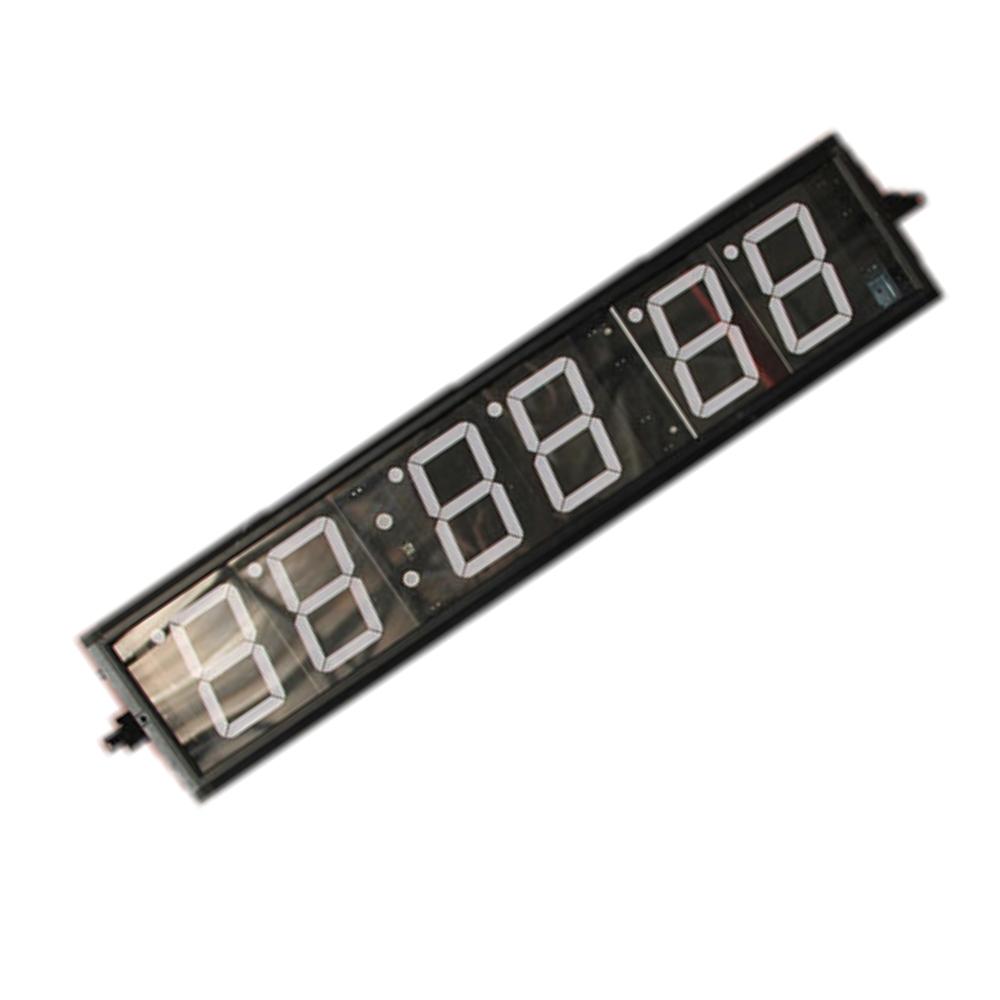 remote control six digital led interval wall clock gym