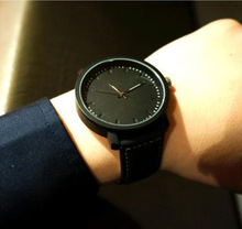2016 unisex leather strap watches men luxury brand big dial men watch for lovers black white lady sport women dress quartz watch