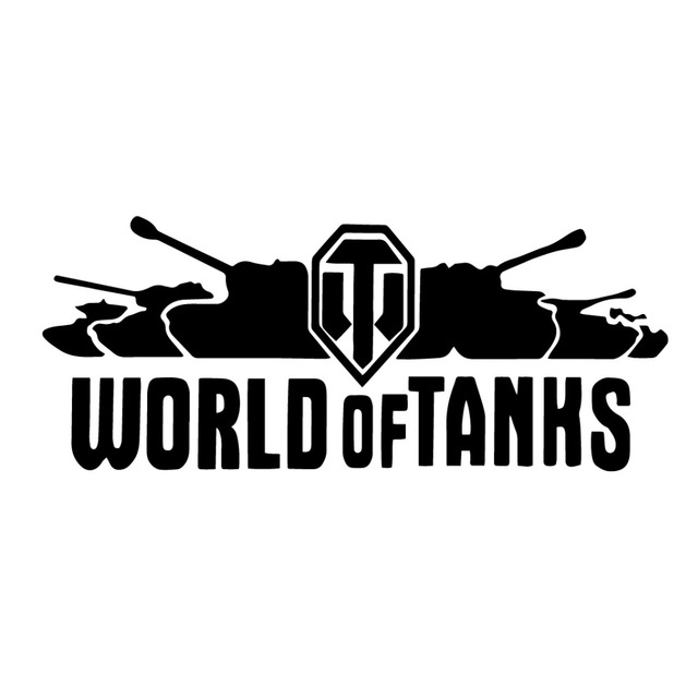 20*8CM WORLD OF TANKS Interesting Vinyl Decal Car Stickers Off-Road Motorcycle Car Styling CT-396