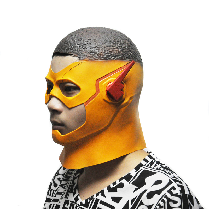 2017 The Kid Flash Masks DC Movie Cosplay Costume Prop Halloween Full Head Latex Party Tokyo Ghoul Mask(China (Mainland))