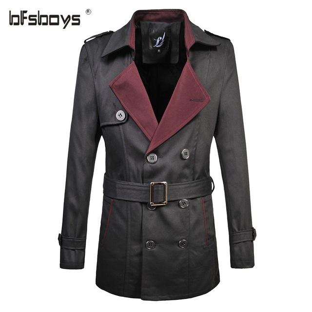 Большие размеры M-6XL, высокое качество, фирменное классическое мужское пальто с двумя отворотами, тренч, для весны, модное, для делового мужчины, тренч с поясом