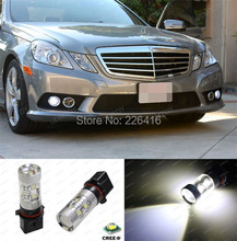 Error Free White 50W LED Daytime Lights Bulb For 2010-11 Mercedes W212 E Class Sedan or Coupe (non-HID headlight version) models(China (Mainland))