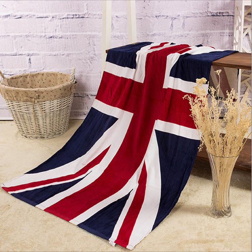 American British flag design bath towel 140x70cm absorbent cotton beach drying washcloth swimwear shower towels WXT740 - Beauty Life-Kristina store
