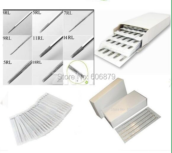 Freeshipping 200pcs lot sterilized tattoo needles assorted for Shading tattoo needles