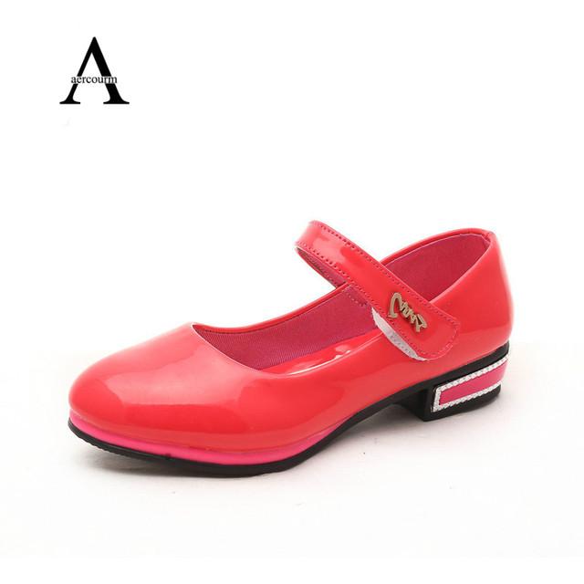 2016 весна девушки кожаные ботинки конфеты цветные бабочки детская обувь девочек свободного покроя обувь твердые дети кроссовки девушки размер 26 - 36