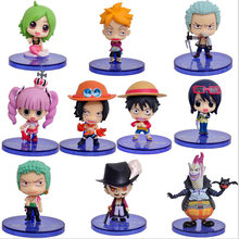 10pcs/set Anime One Piece Figures Cartoon Kids Toys PVC Toys Action Figures 5-7cm