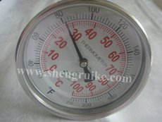 Industrial Bimetal Thermometer with Back  Connection 3/4NPT Thread<br><br>Aliexpress