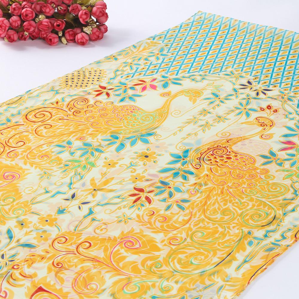 Nation Style 2016 New Fashion Spring and Winter Scarf Women Chiffon Print Brand Shawls and Scarves Soft Silk Beach Bufandas 1643