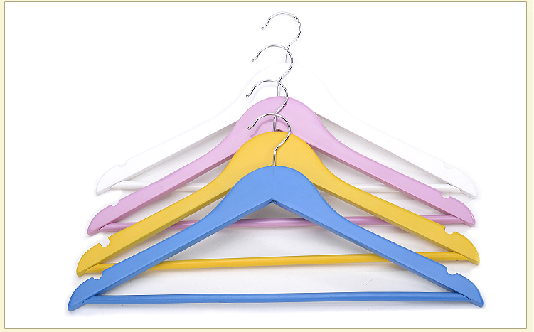 Wholesale Adult Wooden Closet Hangers Multicoloured Household Laundry Hangers Promotion Top Quality Clothes Racks Free Shipping(China (Mainland))