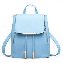 Women Backpack High Quality PU Leather Mochila Escolar School Bags For Teenagers Girls Top-handle Backpacks Herald Fashion(China (Mainland))