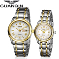 Origianl GUANQIN Top Brand Luxury New Fashion Automatic Mechanical Lovers Watches Waterproof Dress Men Women Watches