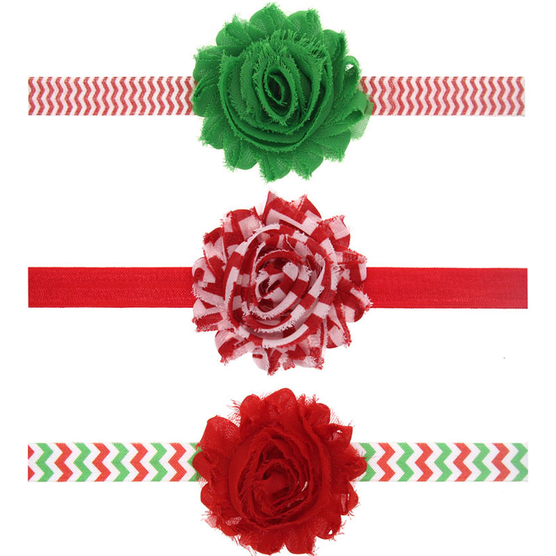 Lovely Toddlers Baby Kids Shabby Flower Hair Bands Skinny Elastic Chiffon Flower Headbands Photography Props Baby Gift 1pc HB476(China (Mainland))