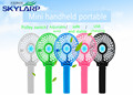 New Mini handheld portable small fan Removable battery USB small energy saving mute small electric fan