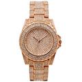Ladies Quartz Watch Women Rhinestone Casual Dress Women's clock Rose Gold Crystal wist watches 2016 montre femme marque de luxe
