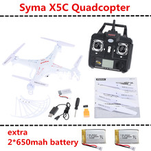 Syma X5 X5C X5C-1 Explorers and 5pcs battery New Version With Transmitter BNF RC Quadcopter Helicopter