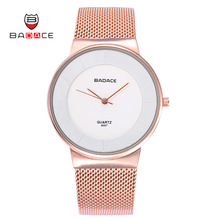 Buy BADACE Mens Watches Top Brand Luxury Man Gold Watch Ultra Thin Mesh Band Quartz Clock Wristwatch Casual Watches 9007 for $13.21 in AliExpress store