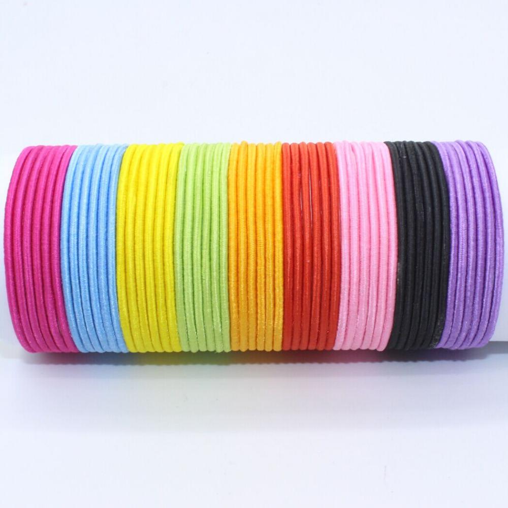 2015 Wholesale 30mm black stripe elastic hair bands 10pcs/lot hair rope Accessories for girls kids headband scrunchy(China (Mainland))