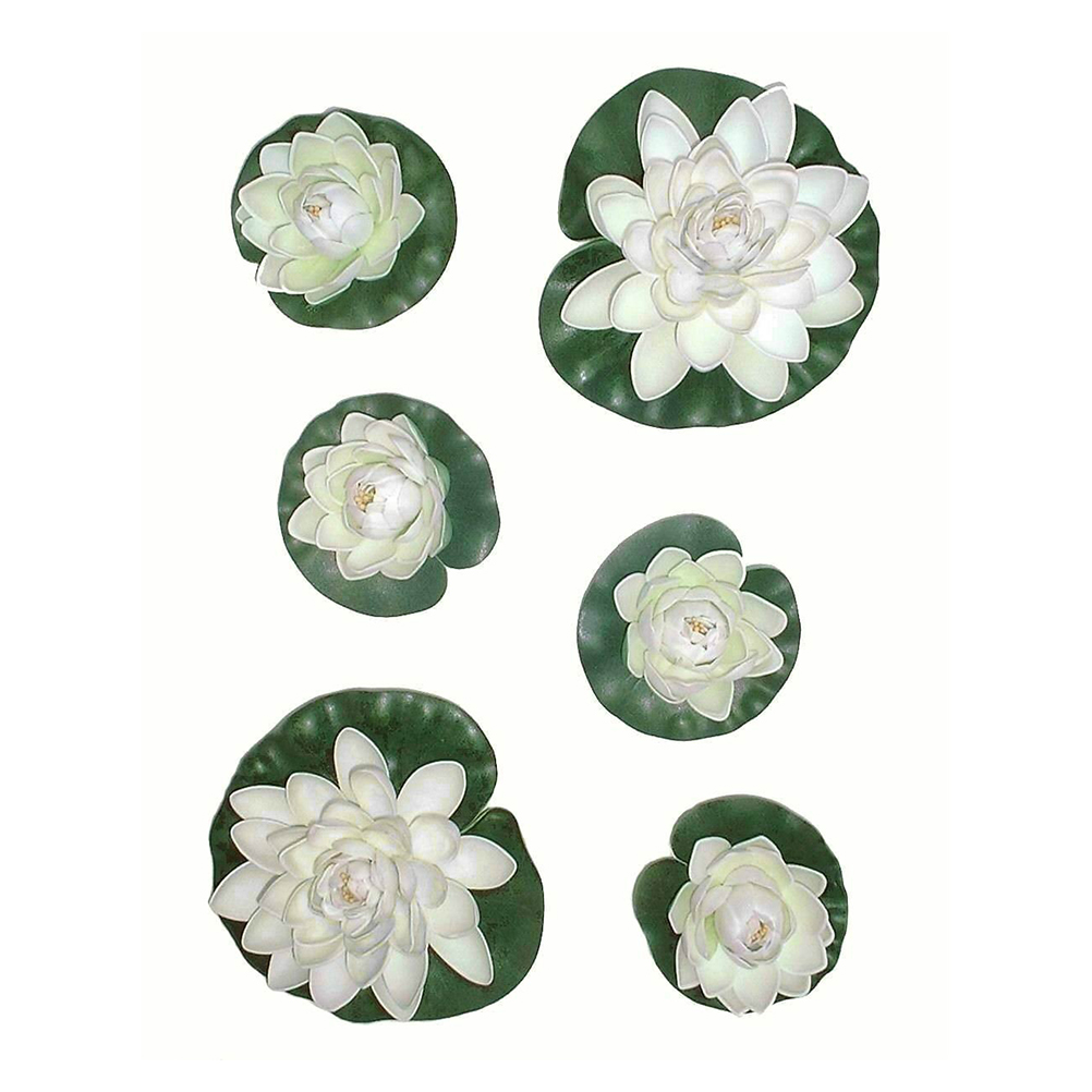 6pcs Manualidades Mariage Flores Plants Water Lily Artificial Plastic Flowers Fake Bouquet Lotus home decor Free Shipping(China (Mainland))