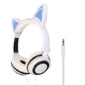 New Foldable Flashing Glowing Cat Ear headphones Gaming Headset Earphone with LED Light For PC Laptop