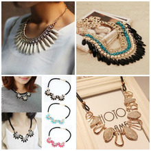 Buy 2016 Hot Sale Women Fashion Charm Jewelry Chain Pendant Crystal Choker Statement Bib Necklace for $1.23 in AliExpress store