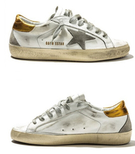 2015 New GGDB women shoes Golden Goose Super star Genuine Leather Gold casual shoes Men Women sport flats Low-Cut g23d121 p1