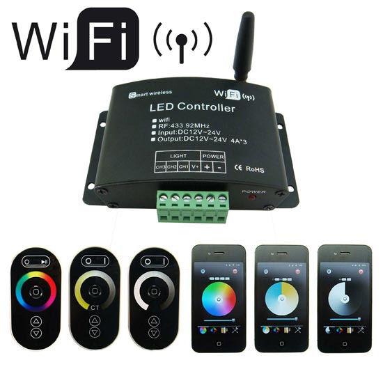 RGB контролер SINON WiFi IOS Android 4A * 3 CH WiFi dc12/24v LED-WiFi controller