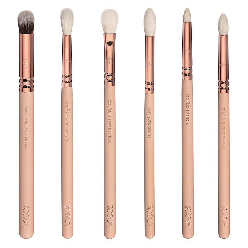 Хорошее качество Zoeva 12 шт. роуз золотой полный комплект глаз eyeshadow карандаш для глаз смешивание карандаш макияж кисти