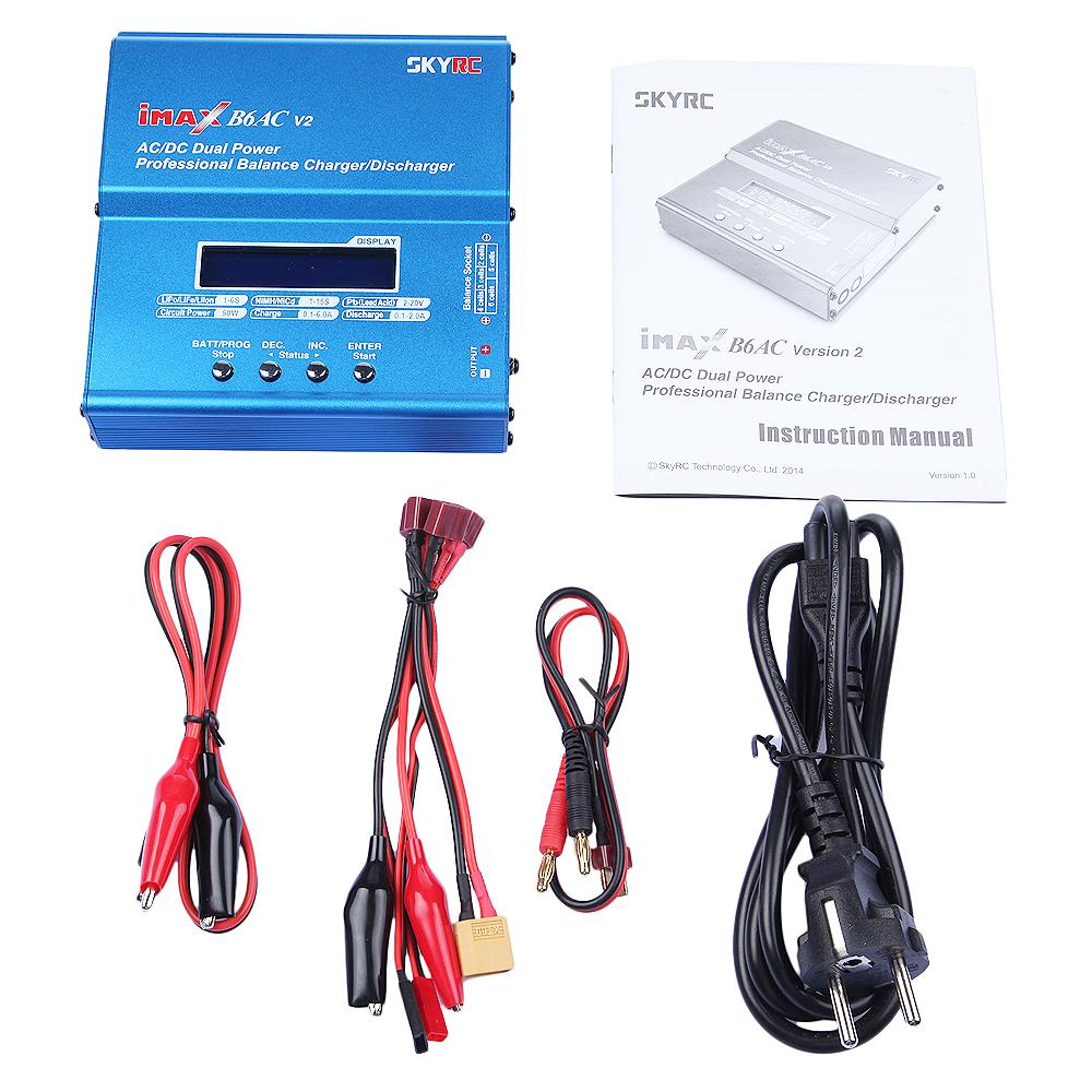 Genuine SKYRC iMAX B6AC V2 Dual Power (6Amps, 50Watts) Balance Charger/Discharger for Lipo Battery For RC Helicopter Quadcopter