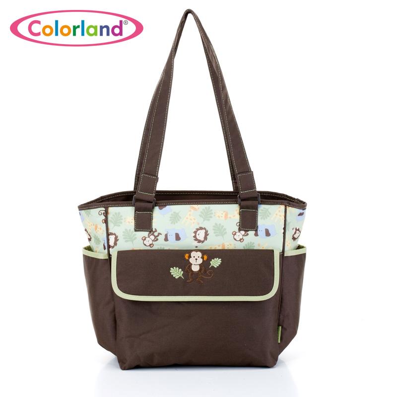 Fashion Large capacity waterproof printing Nylon Nappy bag font b maternity b font Nursing baby bag