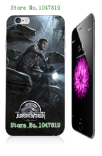 Mobile Phone Case Retail 1pc Jurassic world Movie Design Protective White Hard Case For Iphone 6plus Free Shipping