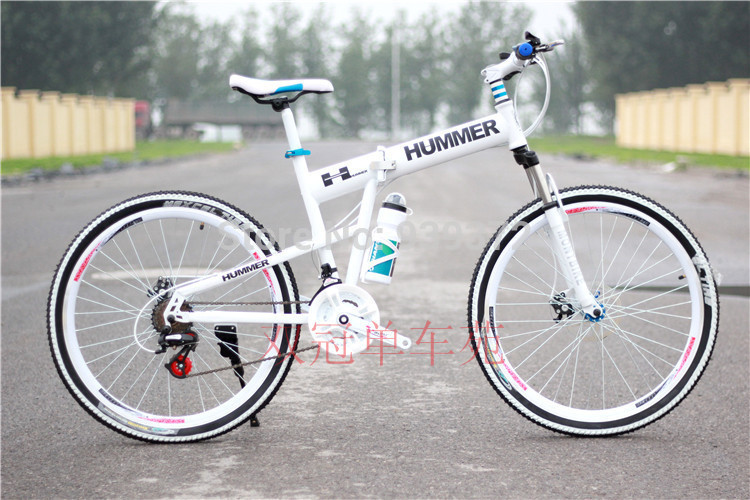 26*17 hummer mountain bike folding mtb variable speed drive disc cross country mountain bike(China (Mainland))