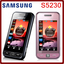 S5230 Original Unlocked Samsung Hello kitty Version S5230 MP3 Player Single Card Touchscreen Refurbished Smartphone(China (Mainland))