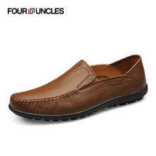 new 2016 spring and summer fashion men's geniune leather loafers casual male driving shoes big size 38-48