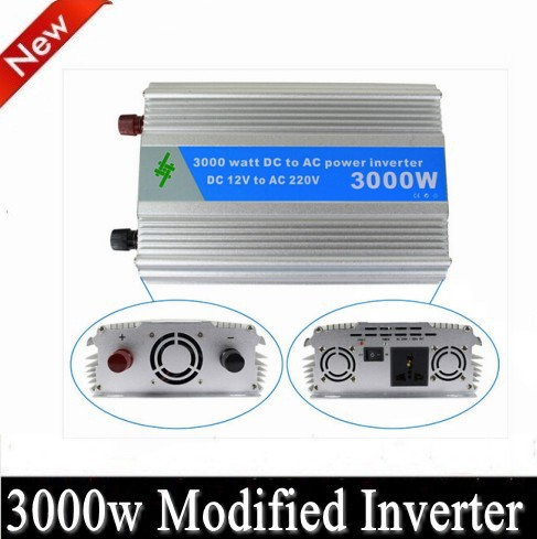 6000W Peak 3000W Modified Sine Wave Power Inverter 12V DC Input 220-240V AC Output 50Hz,Power Tools(China (Mainland))