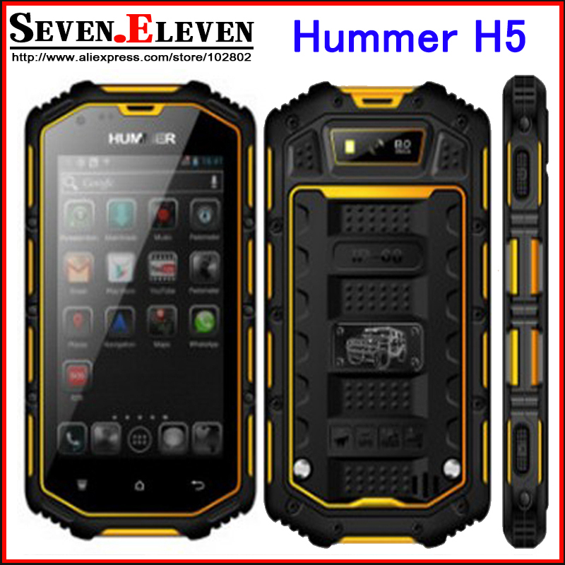 "2015 Hummer H5 Smartphone 4.0"" android 4.2 Real Waterproof mobile phone 3G GPS Capacitive Screen IP68 WCDMA dustproof phone(China (Mainland))"