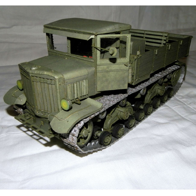 3D Paper model Truck 1:25 scale World War II Soviet Union Voroshilovetz Tractor Military Vehicles diy puzzles adults papercrafts(China (Mainland))